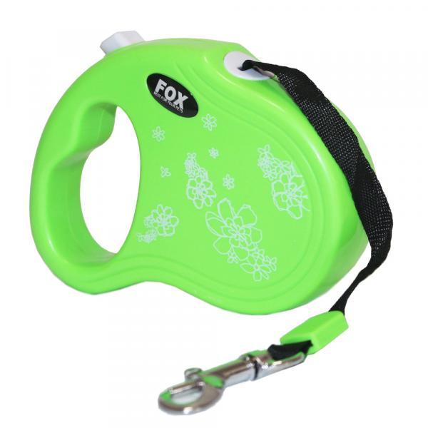 """Поводок-рулетка ТМ"""" FOX"""" FD800 Mini  зеленый, лента(3м*12 кг)"""
