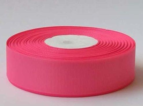 Фото Ленты, Лента репсовая  2 и 2.5 см Репсовая  лента  2,5 см.  неоново - Розового цвета .