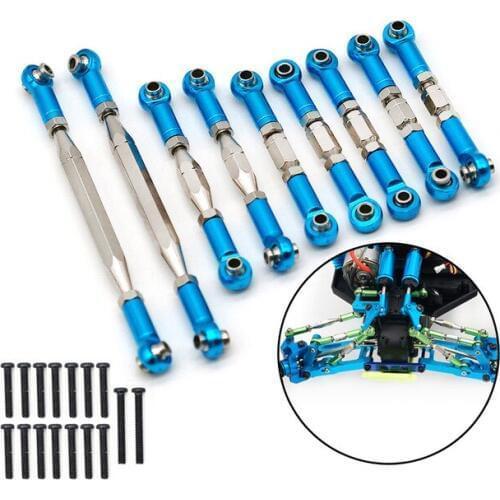 Wltoys 12428 1/12 тяги 12428-0018 0019 0020 0021 0022 , для машинок, JJRC Q39, Q40, Feiyue FY-01/FY-02/FY-03, регулируемые, металл.