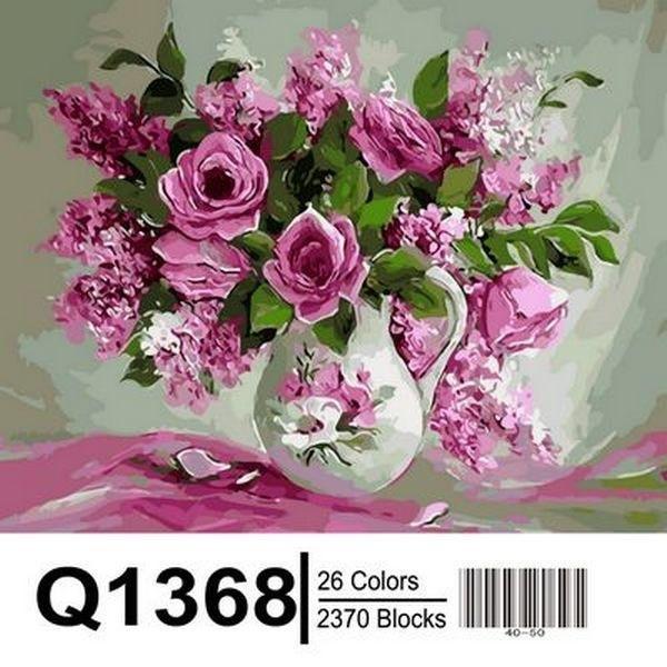 Фото Картины на холсте по номерам, Букеты, Цветы, Натюрморты Q1368