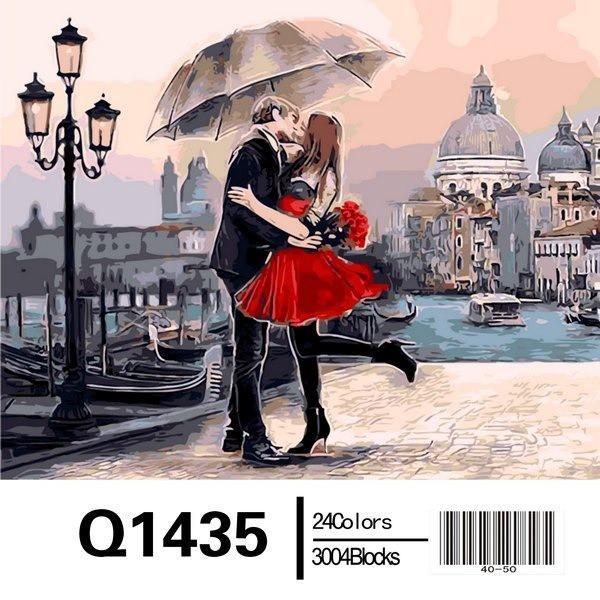 Фото Картины на холсте по номерам, Романтические картины. Люди Q1435