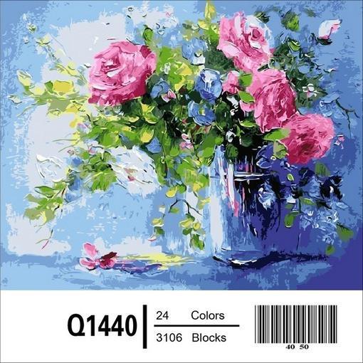 Фото Картины на холсте по номерам, Букеты, Цветы, Натюрморты Q1440