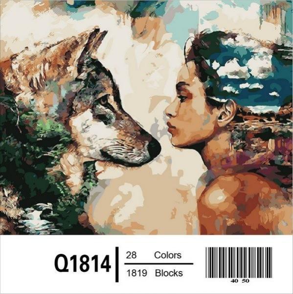 Фото Картины на холсте по номерам, Картины по номерам 50х65см QS1814