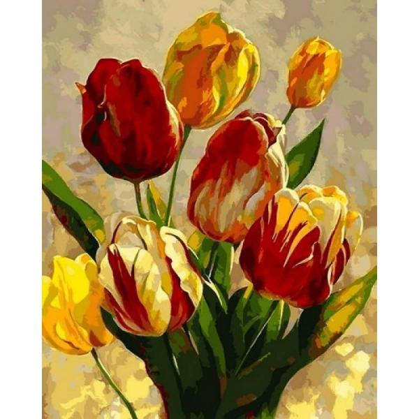 Фото Картины на холсте по номерам, Букеты, Цветы, Натюрморты Q2182