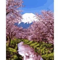 Фото Наборы для вышивания, Вышивка крестом с нанесенной схемой на конву, Пейзаж Q 2195 Природа Японии Роспись по номерам на холсте 40х50см
