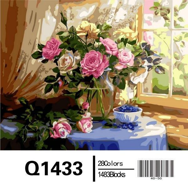 Фото Картины на холсте по номерам, Букеты, Цветы, Натюрморты Q1433