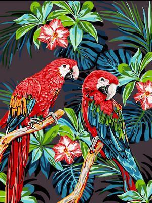 Фото Картины на холсте по номерам, Животные. Птицы. Рыбы... VK 186
