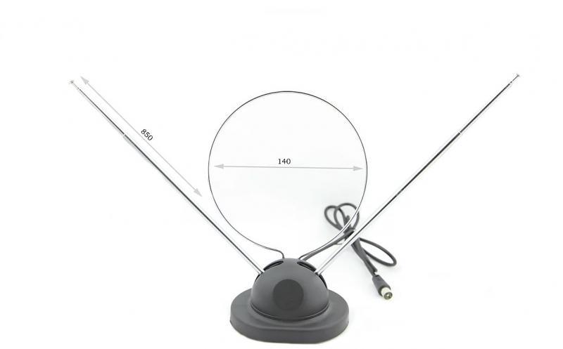 Антенна рожковая универсальная МВ/ДМВ с подставкой
