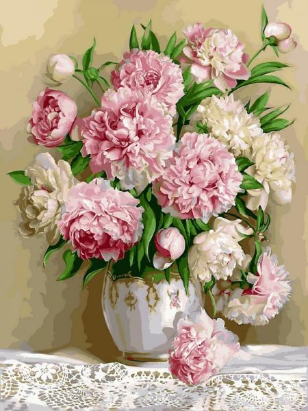 Фото Картины на холсте по номерам, Букеты, Цветы, Натюрморты VK 021