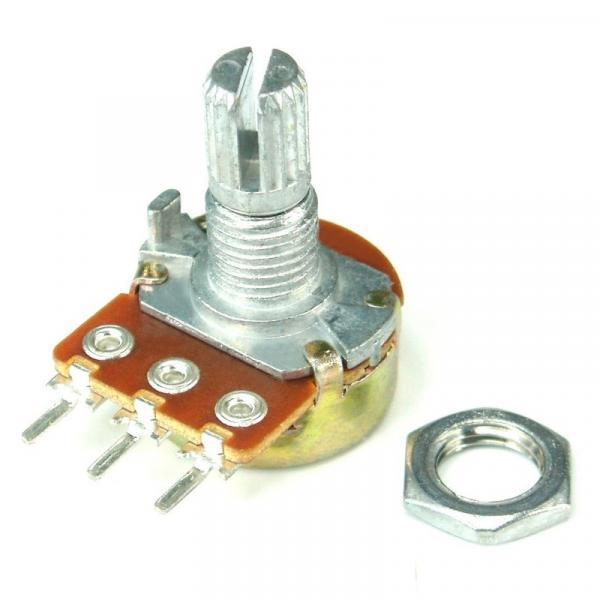 Резистор переменный 500кОм (3pin WH148  линейный потенциометр 15 мм)
