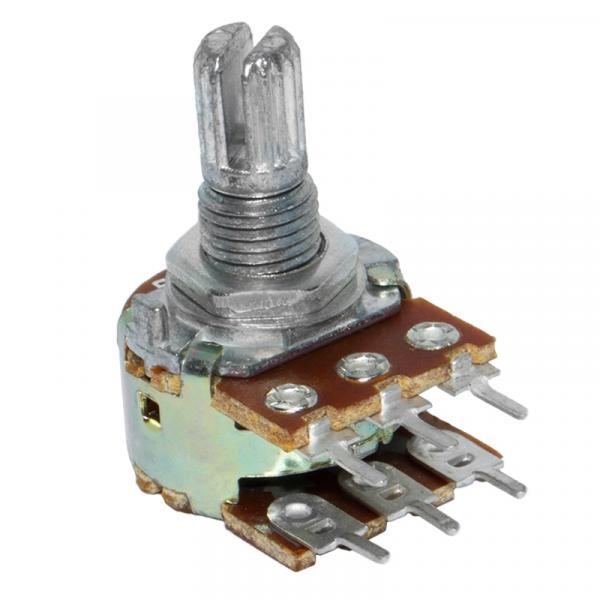 Резистор переменный 5кОм (6pin WH148  линейный потенциометр 15 мм)