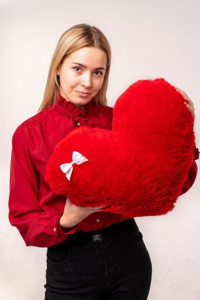 """Мягкая игрушка Yarokuz подушка """"Сердце"""" 50 см Красная"""
