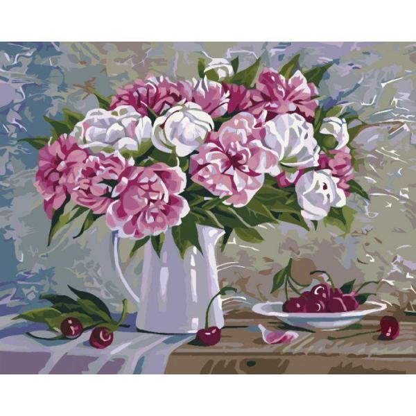 Фото Картины на холсте по номерам, Картины  в пакете (без коробки) 50х40см; 40х40см; 40х30см, Цветы, букеты, натюрморты KHO 2061