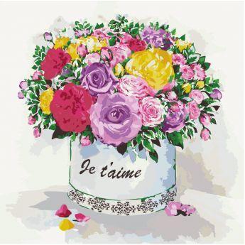 Фото Картины на холсте по номерам, Букеты, Цветы, Натюрморты KH 2089