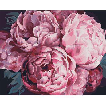 Фото Картины на холсте по номерам, Картины  в пакете (без коробки) 50х40см; 40х40см; 40х30см, Цветы, букеты, натюрморты KHO 3015
