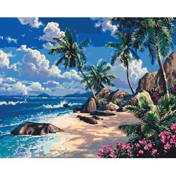 Фото Картины на холсте по номерам, Картины  в пакете (без коробки) 50х40см; 40х40см; 40х30см, Пейзаж, морской пейзаж. KHO 2234