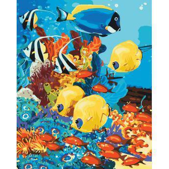 Фото Картины на холсте по номерам, Картины  в пакете (без коробки) 50х40см; 40х40см; 40х30см, Животные, птицы, рыбы KHO 4075