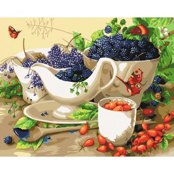 Фото Картины на холсте по номерам, Картины  в пакете (без коробки) 50х40см; 40х40см; 40х30см, Цветы, букеты, натюрморты KHO 5553