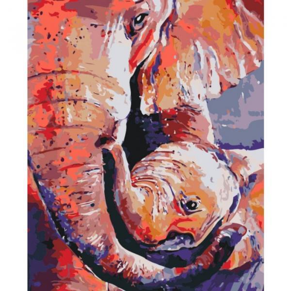Фото Картины на холсте по номерам, Картины  в пакете (без коробки) 50х40см; 40х40см; 40х30см, Животные, птицы, рыбы KHO 2486