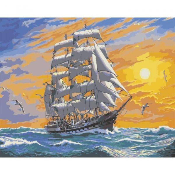 Фото Картины на холсте по номерам, Картины  в пакете (без коробки) 50х40см; 40х40см; 40х30см, Пейзаж, морской пейзаж. KHО 2722