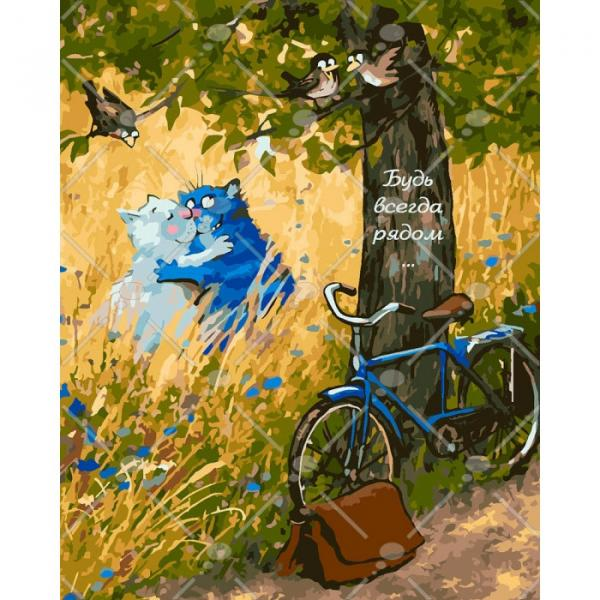 Фото Картины на холсте по номерам, Картины  в пакете (без коробки) 50х40см; 40х40см; 40х30см, Животные, птицы, рыбы KHO 4093