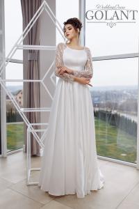 Фото Свадебные платья Атласное закрытое свадебное платье Федерика
