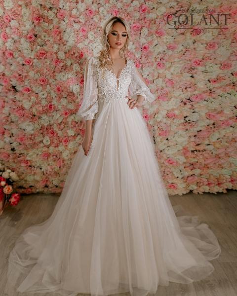 Легкое непышное свадебное платье Анетта