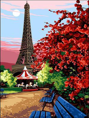 Фото Картины на холсте по номерам, Городской пейзаж VK 067