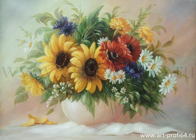 Фото Картины на холсте по номерам, Букеты, Цветы, Натюрморты MS 537