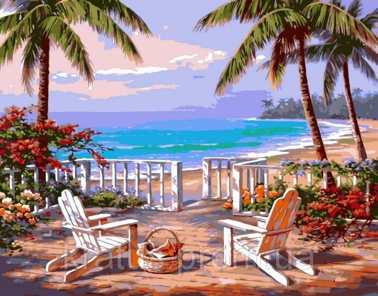 Фото Картины на холсте по номерам, Морской пейзаж VP 009