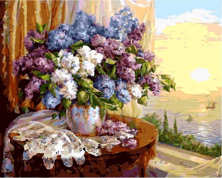 Фото Картины на холсте по номерам, Букеты, Цветы, Натюрморты VP 331