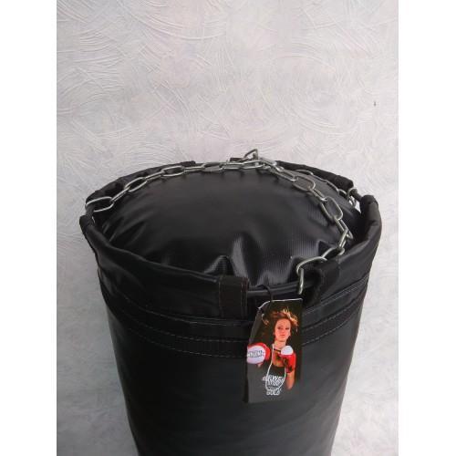 Фото Плотность боксерского мешка (груши), 700 гр/м2 Боксёрский мешок (груша) 0.30 х 0.85 цепи, кольцо, карабин.