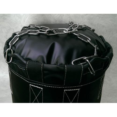 Фото Плотность боксерского мешка (груши), 700 гр/м2 Боксёрский мешок (груша) БПВХ-ЭЛ 0.35 х 1.00 Подвес:Цепи, кольцо, карабин.