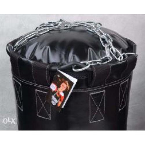 Фото Плотность боксерского мешка (груши), 800 гр/м2 Боксёрский мешок (груша) БПВХКЭЛ 0.40 х 1.00 Подвес: цепи, кольцо, карабин.