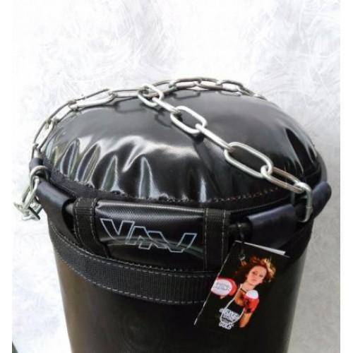 Фото Плотность боксерского мешка (груши), 800 гр/м2 Боксёрский мешок (груша) БПВХКЭЛ 0.40 х 1.20 Подвес: цепи, кольцо, карабин.