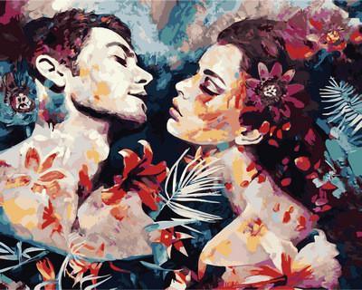 Фото Картины на холсте по номерам, Романтические картины. Люди VP 982