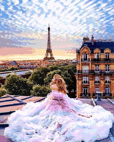 Фото Картины на холсте по номерам, Картины по номерам 50х65см VPS 1013 Парижские мечты Картина по номерам на холсте 65х50см