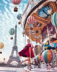 Фото Картины на холсте по номерам, Романтические картины. Люди VP 1015 Парижская карусель Роспись по номерам на холсте 40х50см