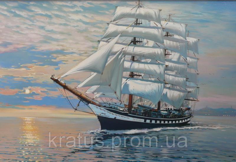 Фото Картины на холсте по номерам, Морской пейзаж MS 050