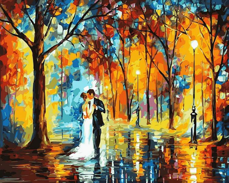 Фото Картины на холсте по номерам, Романтические картины. Люди VP 457