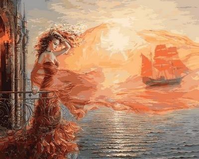 Фото Картины на холсте по номерам, Романтические картины. Люди VP 681