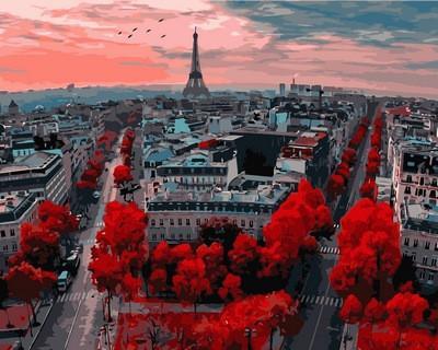 Фото Картины на холсте по номерам, Городской пейзаж VP833
