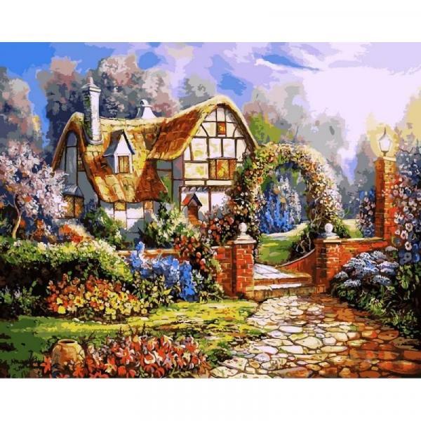 Фото Картины на холсте по номерам, Загородный дом VP 1091
