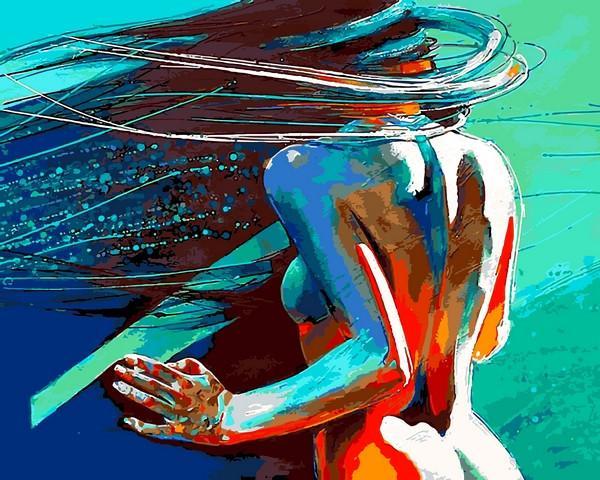 Фото Картины на холсте по номерам, Романтические картины. Люди VP 1185 Ветер в волосах Роспись по номерам на холсте. 40х50см