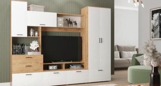 Фото Стенки и мебель для гостиной  Гостиная Дуся 2,5м (ДСВ)