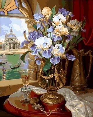 Фото Картины на холсте по номерам, Букеты, Цветы, Натюрморты VP867