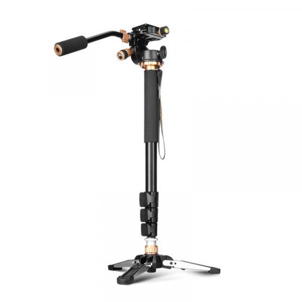 Монопод фирмы QZSD для фотоаппаратов и видеокамер - Q-158B + головка Q08S