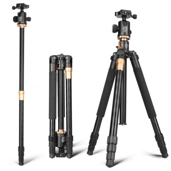 Штатив + монопод фирмы QZSD для фотоаппаратов - Q-999H (Q999H) + головка QZSD-02