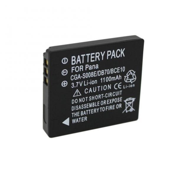 Аккумулятор для камер Panasonic DMW-BCE10 (аналог CGA-S008, CGA-S008E, DMW-BCE10E, BP-DC6, DB-70) аналог 1100