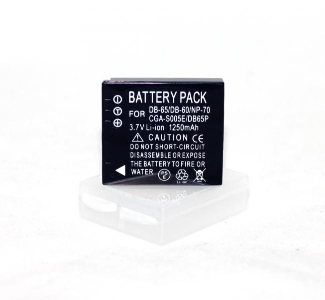 Аккумулятор для камер Panasonic CGA-S005E (DMW-BCC12, NP-70, BP-DC4, D-LI106, DB-60, IA-BH125C - аналог 1250ma